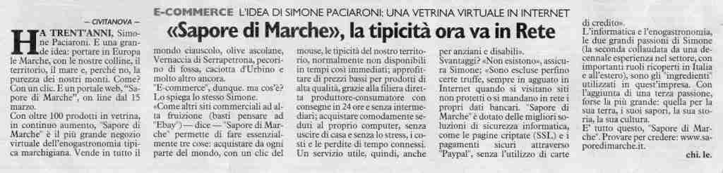 Sapore di Marche - articolo